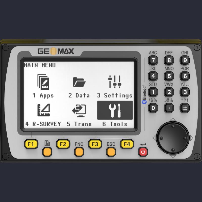 Attēls ar Geomax Zoom25 manuālā tahimetra ekrānu