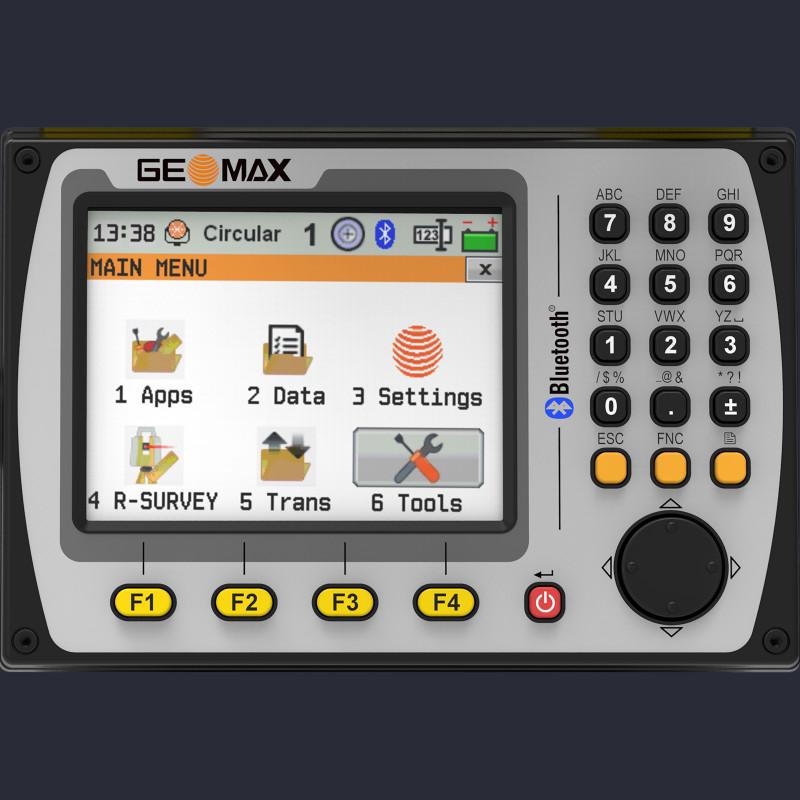 Attēls ar Geomax Zoom50 manuālā tahimetra ekrānu