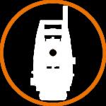 Sākumlapas ikona robotizēto tahimetru sadaļai