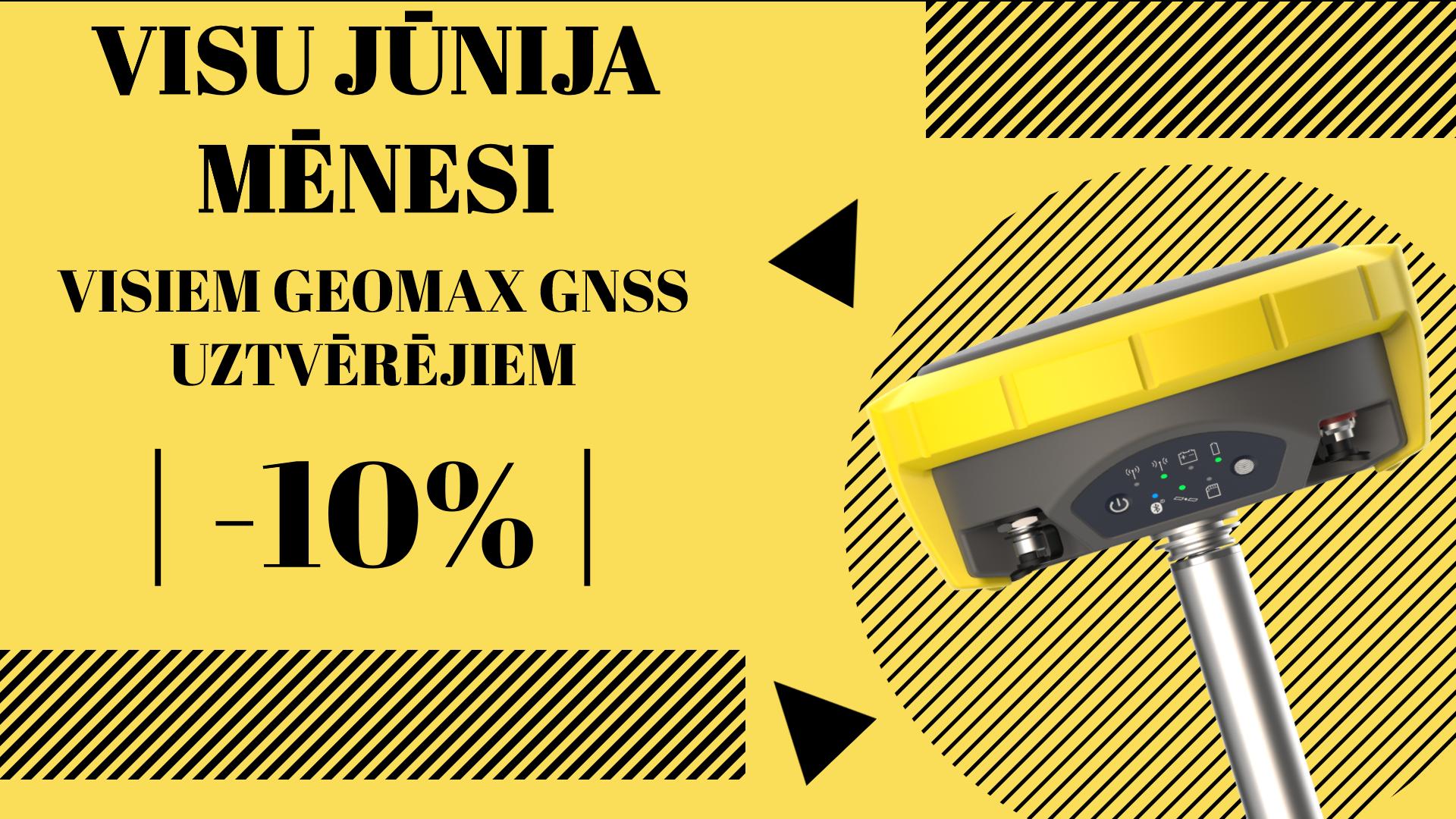Geomax jūnija GNSS akcijas banneris